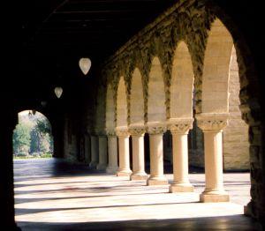 Columned Hallway