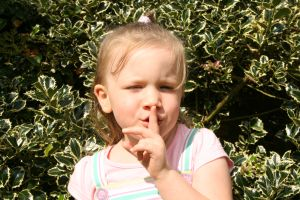 Girl with Shush Finger