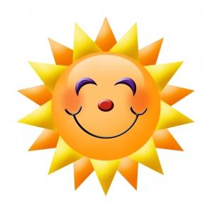 Smiling sunburst