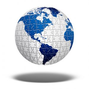 Puzzle of globe