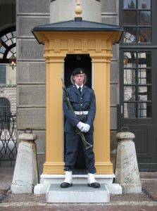 Royal castle guard at Stockholm