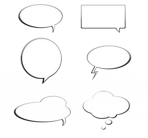 Empty speech bubbles in different styles