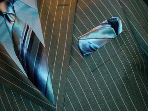 Close-up of a man's suit