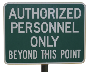 Sign: Authorized Personnel Only