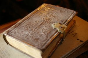Old book with latch