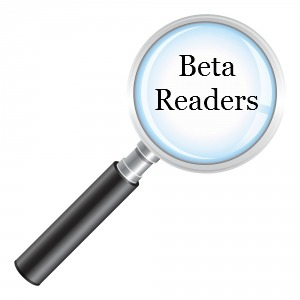 "Magnifying glass centered on the words ""beta reader"""