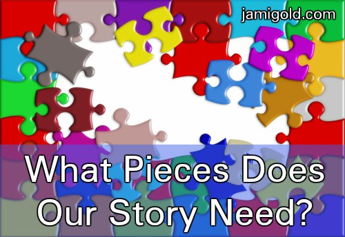 Colorful puzzle pieces half assembed