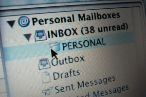 Screen shot of email inbox