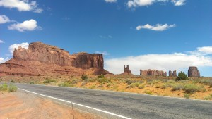 Road in front of Monument Valley, Arizona