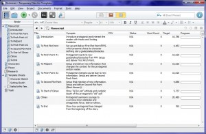 My template for beats, word count targets, and progress bars in Scrivener