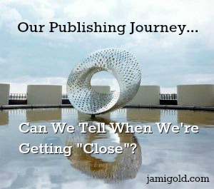 Mobuis strip sculpture with text: Our Publishing Journey... Can We Tell When We're Getting