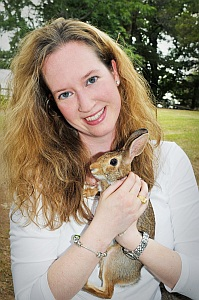 Natalie C. Markey and her bunny