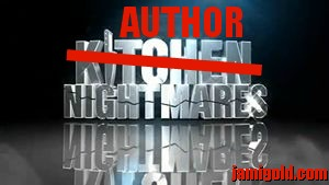 "Kitchen Nightmares logo with ""Kitchen"" crossed out and ""Author"" added in"