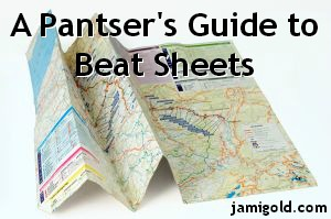 Map with text: A Pantser's Guide to Beat Sheets