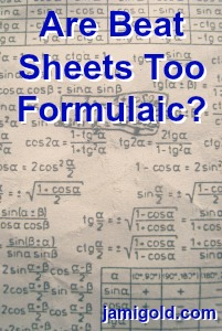 Page of math formulas with text: Are Beat Sheets Too Formulaic?