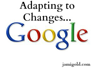 Google Logo with text: Adapting to Changes...