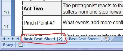 New sheet tab