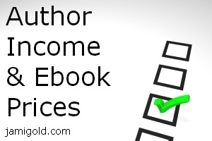 Checkbox form with text: Author Income & Ebook Prices