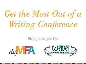 "Cover slide of presentation: ""Get the Most Out of a Writing Conference"""