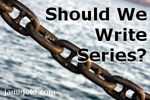 Connected chain links with text: Should We Write Series?