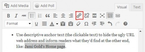 Text link icon