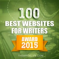 Badge for 100 Best Websites for Writers: Award 2015
