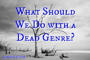 Black and white image of dead tree with text: What Should We Do with a Dead Genre?