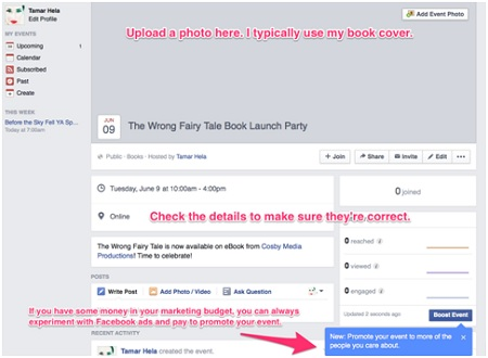 Screenshot of FB Event Page