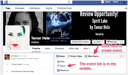 how to create an event in fb