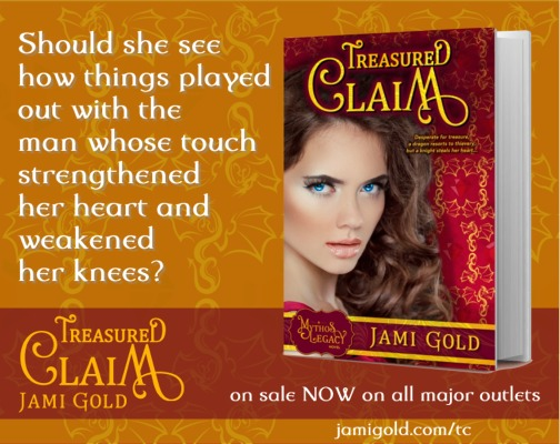 Quote from Elaina of Treasured Claim: Should she see how things played out with the man whose touch strengthened her heart and weakened her knees?