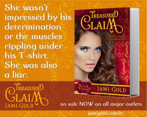 Quote from Elaina of Treasured Claim: She wasn't impressed by his determination or the muscles rippling under his T-shirt. She was also a liar.