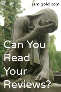 Statue of woman in pain with text: Can You Read Your Reviews?