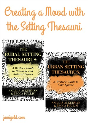 Setting Thesauri covers with text: Creating a Mood with the Setting Thesauri