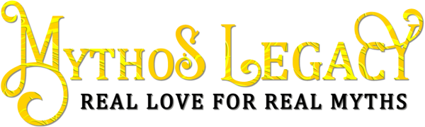 "Mythos Legacy logo with ""Real Love for Real Myths"" tagline"
