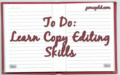 Notepad with text: To Do: Learn Copy Editing Skills