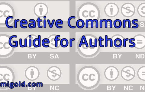 Collage of Creative Commons icons with text: Creative Commons Guide for Authors