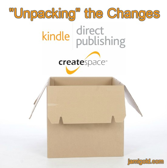 "Empty box with KDP and CS logos with text: ""Unpacking"" the Changes"
