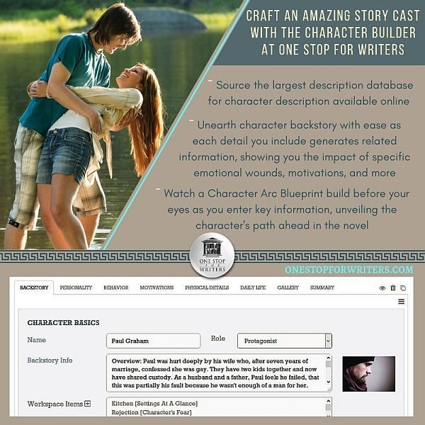 Character Builder at One Stop for Writers