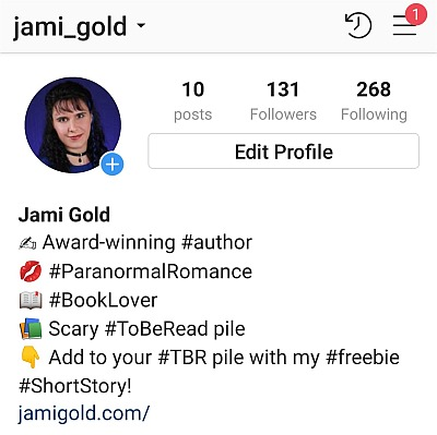 Jami Gold's profile on Instagram