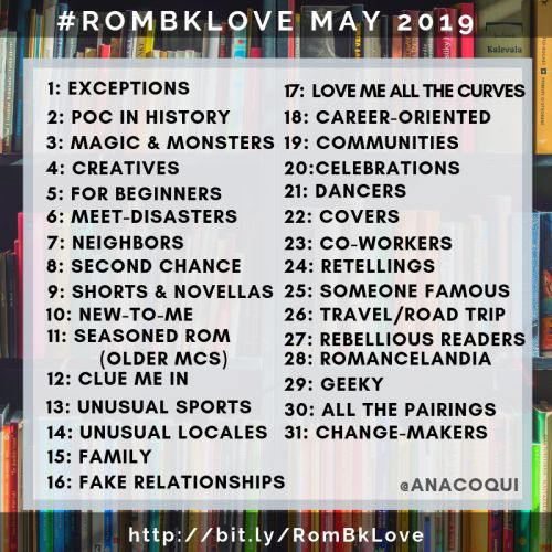 Use the hashtag #RomBkLove to share and find recommendations for inclusive romance reads