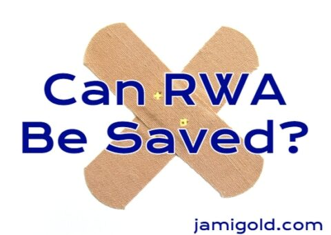 Two bandages against white background with text: Can RWA Be Saved?